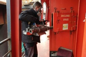 Проведена дезинфекция судна в порту Кавказ